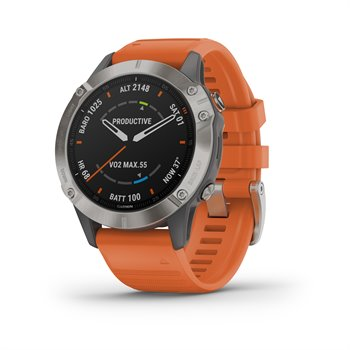 Garmin Fenix 6 Sapphire Titanium Multisport GPS Watch Image