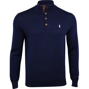 Polo Golf Merino Wool Button Down Mockneck Image