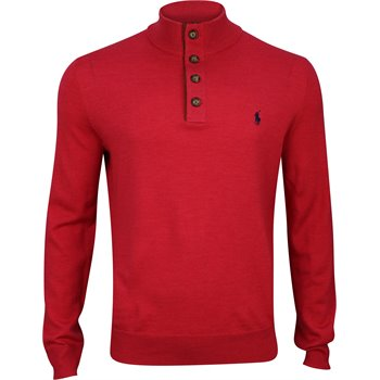 Polo Golf Merino Wool Button Down Mockneck Image