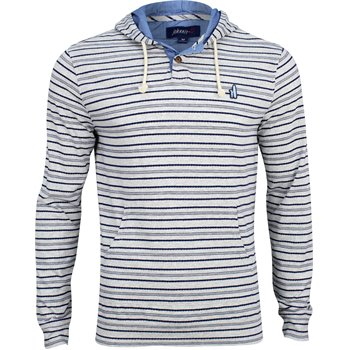Johnnie-O Rylan Heathered Stripe Henley Hoodie Image
