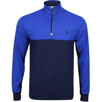 Polo Golf Lightweight Color Blocked Stretch Peached Jersey Half-Zip Image