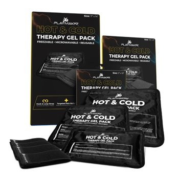 "Playmakar Hot & Cold Therapy Gel Pack 5x10"" With Strap Image"