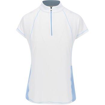 FootJoy Mini Stripe Zip Stand Collar Previous Season Apparel Style Image