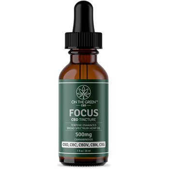 On The Green Focus Broad Spectrum Tincture (500 MG) Image
