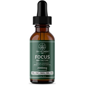 On The Green Focus Broad Spectrum Tincture (2000 MG) Image