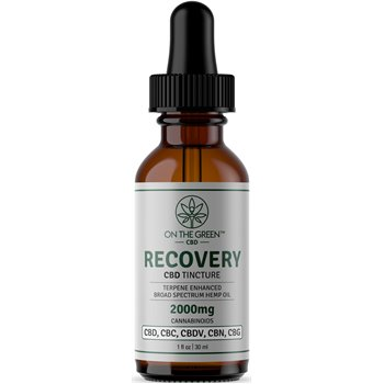 On The Green Recovery Broad Spectrum Tincture (2000 MG) Image