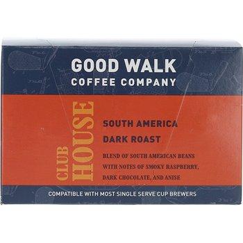 Good Walk Coffee Company Clubhouse South America Dark Roast K-cup Carton Image